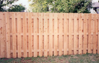 Alternate Board Wood Fence Modern Fence Company Fort Smith Fence Eastern Oklahoma Fencing