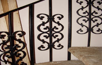 Custom Wrought Iron Banisters