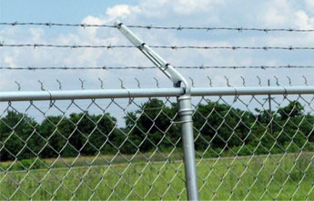 Chain Link Fence with Barbed Wire Razor Wire