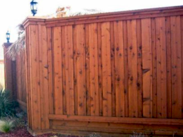 Board on Board Wood Fence Modern Fence Company Fort Smith Fence Eastern Oklahoma Fencing