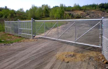 Chain Link Fence Cantilever Slide Gate