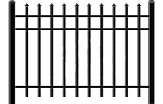Classic Iron Gate Iron Fence Modern Fence Company Fort Smith Fence Eastern Oklahoma Fencing