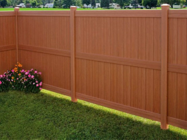 Color and Texture Privacy Vinyl Fence