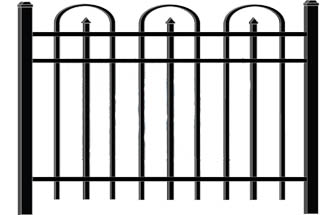 Crescent Iron Gate Iron Fence Modern Fence Company Fort Smith Fence Eastern Oklahoma Fencing