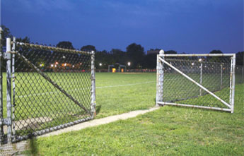 Double Drive Swing Gate with Cross Bar Chain Link Fence