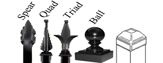Iron Finials Long Iron Fence Modern Fence Company Fort Smith Fence Eastern Oklahoma Fencing