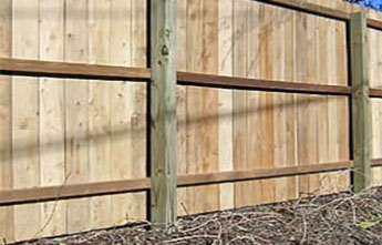 Flat Board Wood Fence Privacy Fencing Modern Fence Company Fort Smith Fence Eastern Oklahoma Fencing