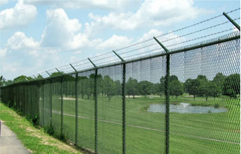 Industrial Chain Link Fence Razor Wire