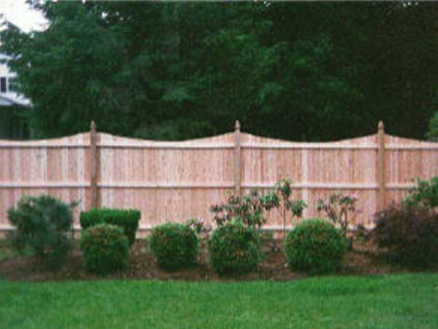 Scalloped Flat Board Wood Fence Privacy Fencing Modern Fence Company Fort Smith Fence Eastern Oklahoma Fencing