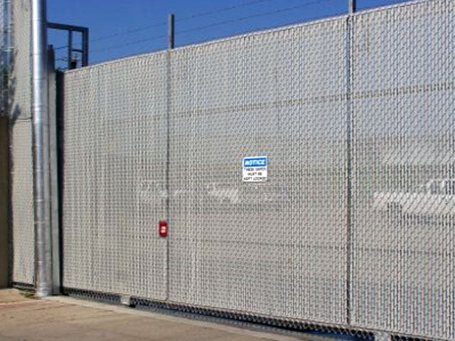 Chain Link Fence Slide Gate with PDS