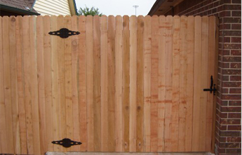 Traditional Wood Fence Gate Privacy Fencing Modern Fence Company Fort Smith Fence Eastern Oklahoma Fencing