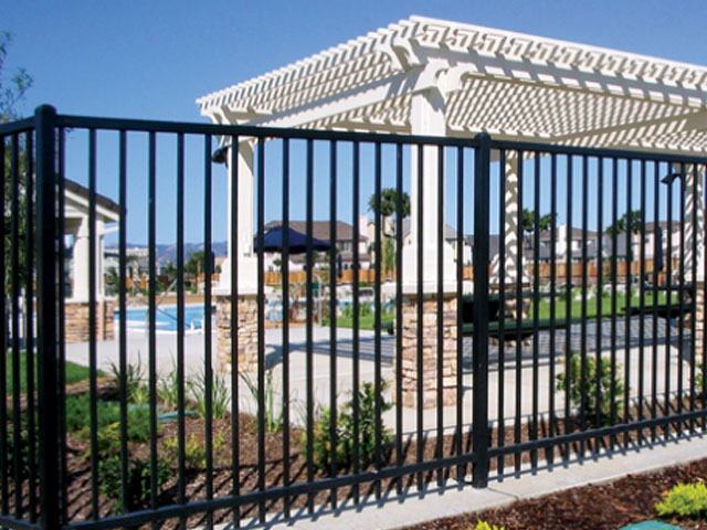 Two Rail Iron Fence