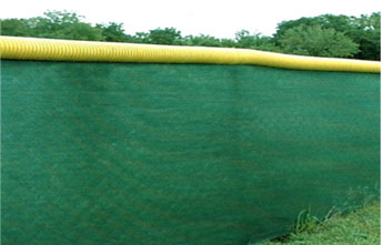 Chain Link Fence Wind Screen and Cap