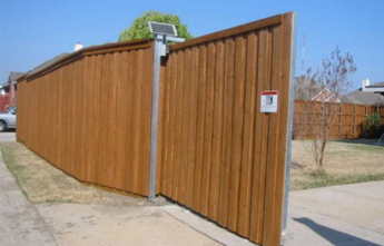 Wood Sliding Gate Wood Fence Modern Fence Company Fort Smith Fence Eastern Oklahoma Fencing